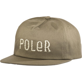 POLER Fur Font Snapback Pet, burnt olive